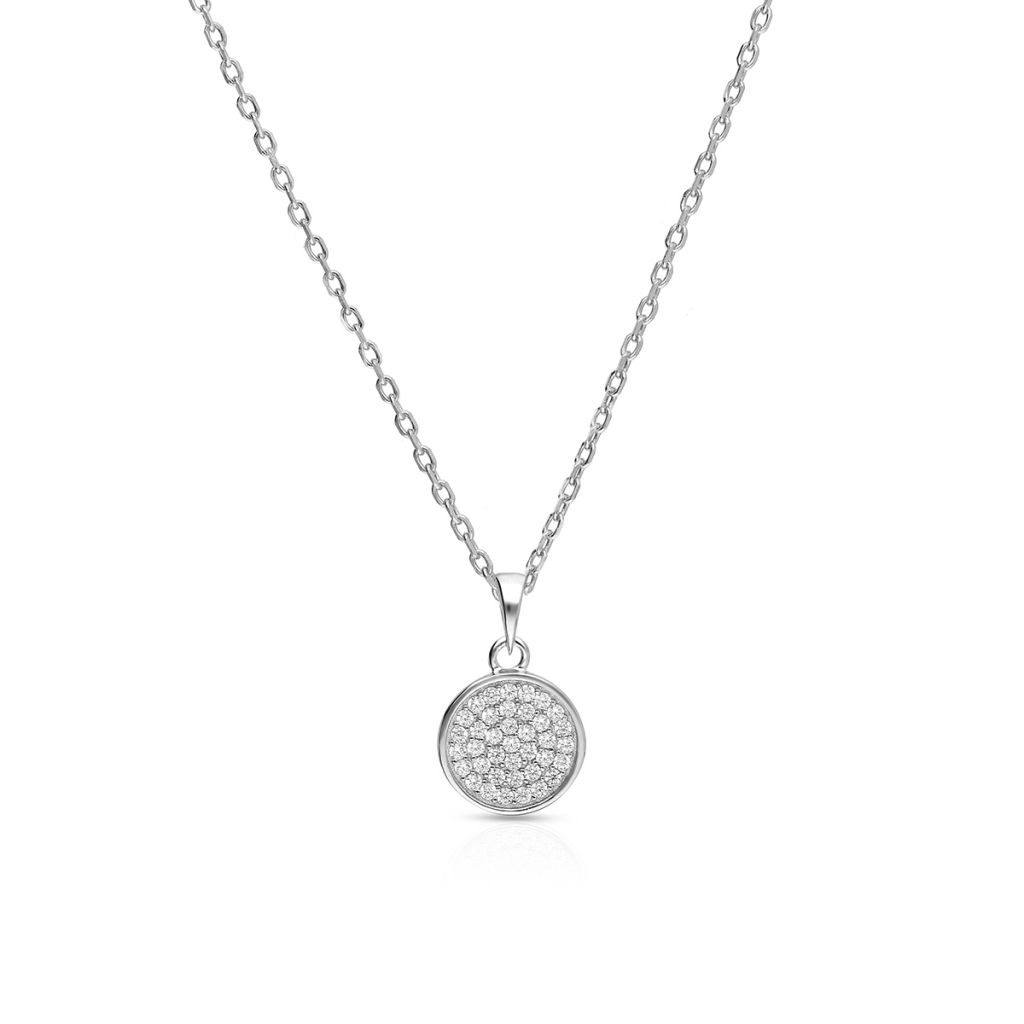 W.KRUK Piękny Srebrny Wisiorek – srebro 925, Cyrkonia – SHX/WC313