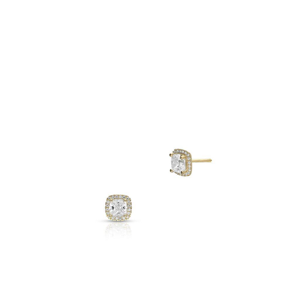 W.KRUK Kolczyki Złote – złoto 375, Cyrkonia – ZIH/KC116