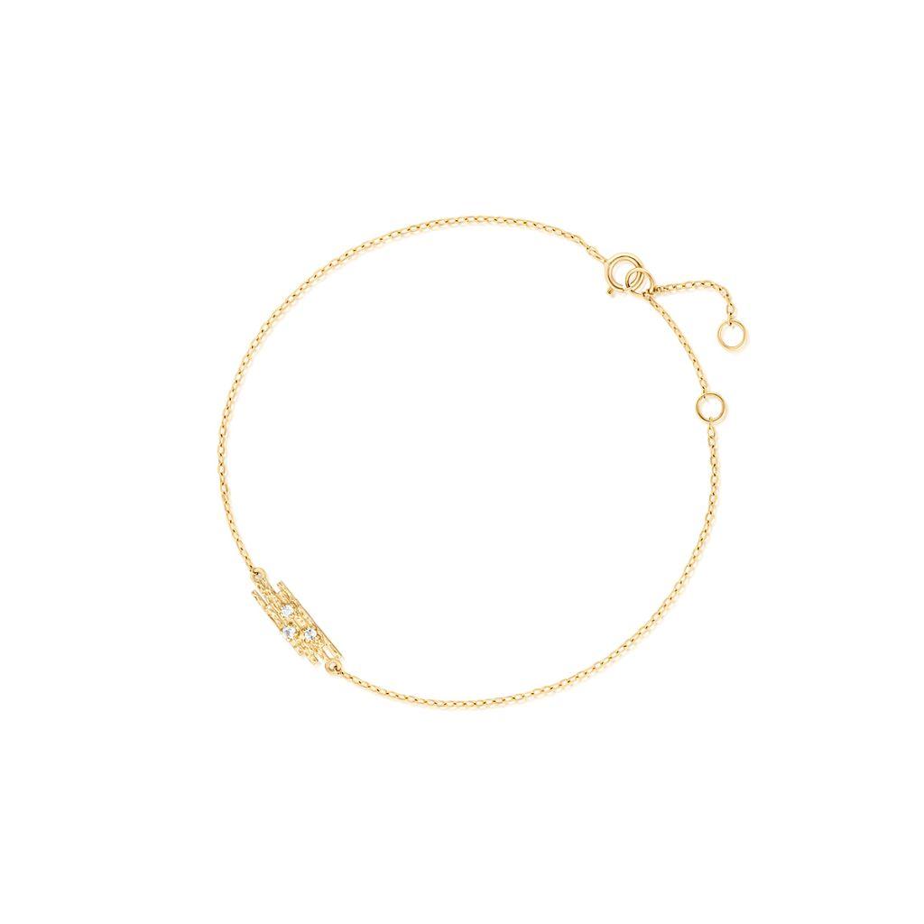 W.KRUK Bransoletka Złota – złoto 375, Biały topaz – ZDL/AT16