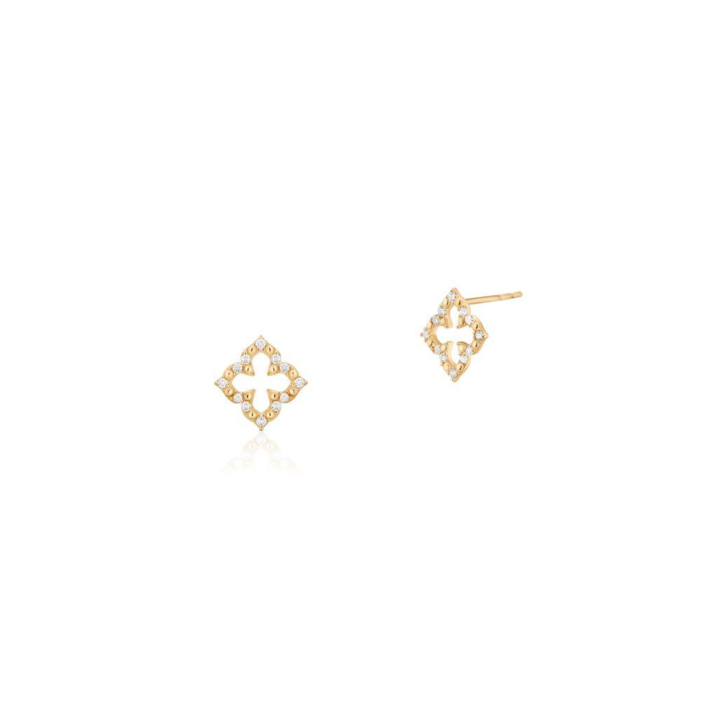 W.KRUK Unikalne Kolczyki Złote – złoto 375, Cyrkonia – ZIO/KC78