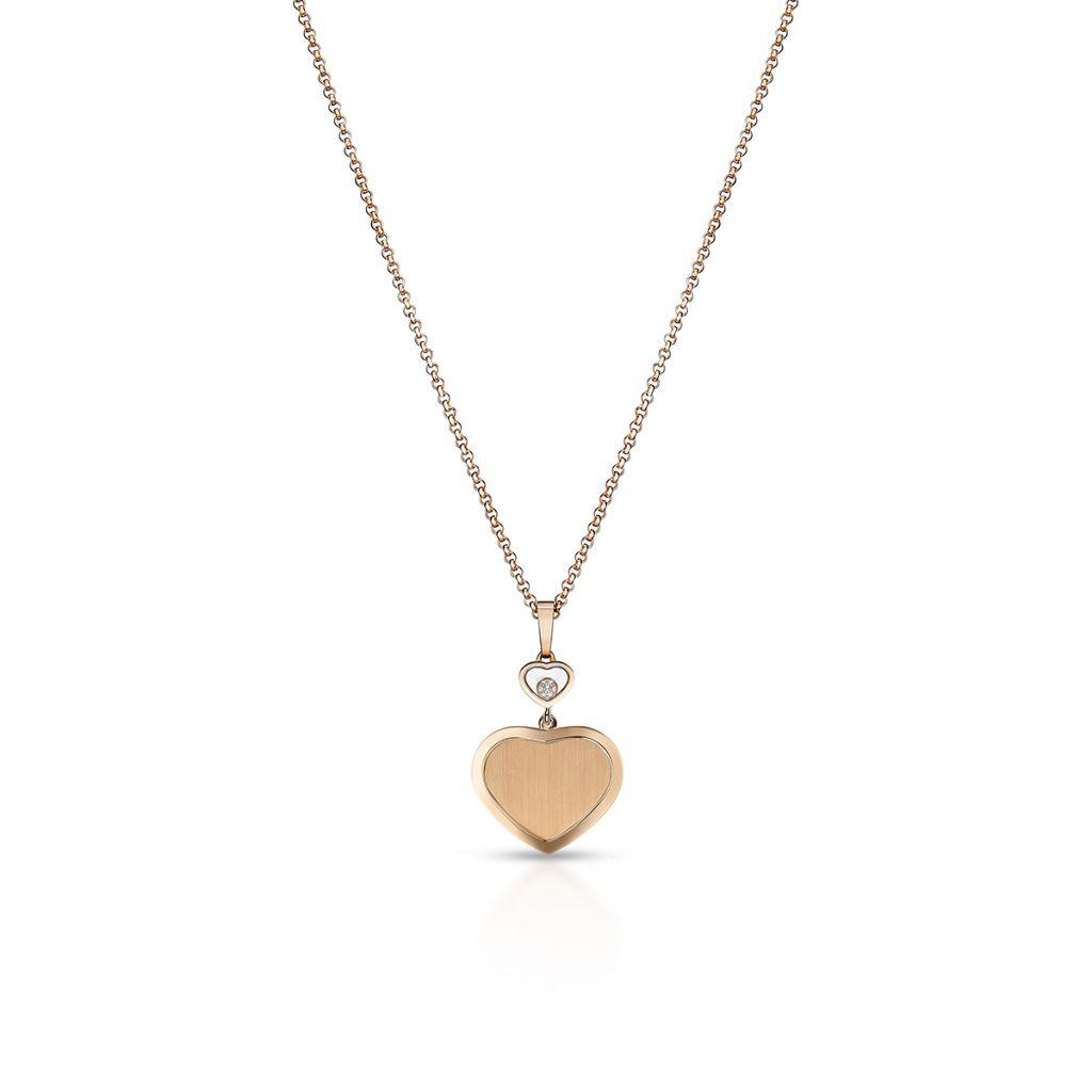W.KRUK Naszyjnik różowe złoto HAPPY DIAMONDS HEART Chopard – ZPD/NB+54R0000