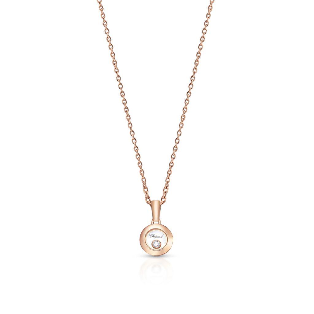 W.KRUK Naszyjnik różowe złoto HAPPY DIAMONDS Chopard – ZPD/NB+02R0000