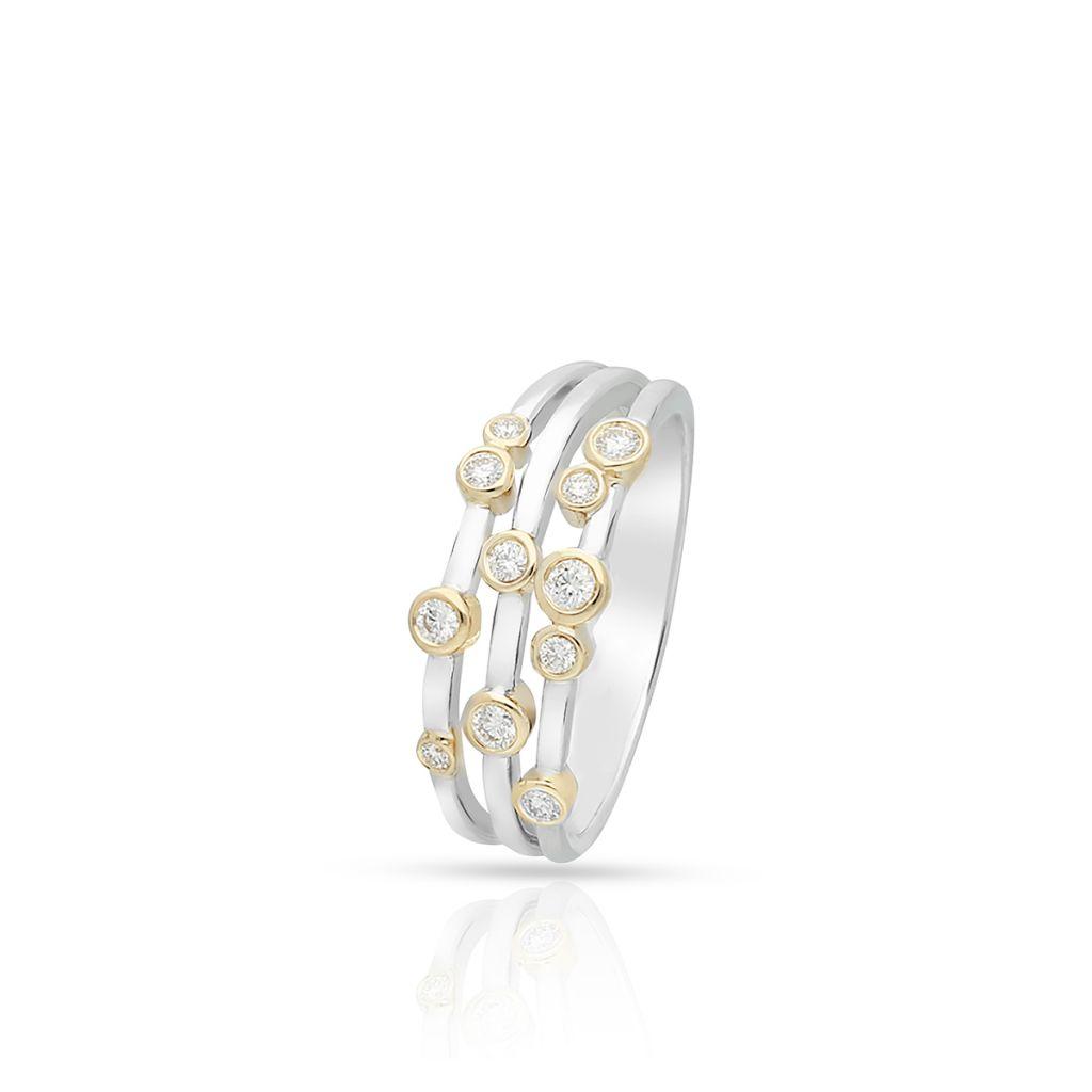 W.KRUK Pierścionek Złoty – złoto 585, Brylant 0,27ct – ZCG/PB+947K