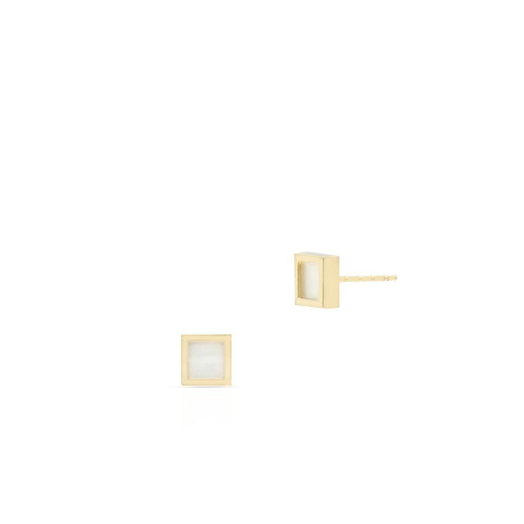 W.KRUK Wyjątkowe Kolczyki Złote – złoto 375, Masa perłowa – ZIO/KM01