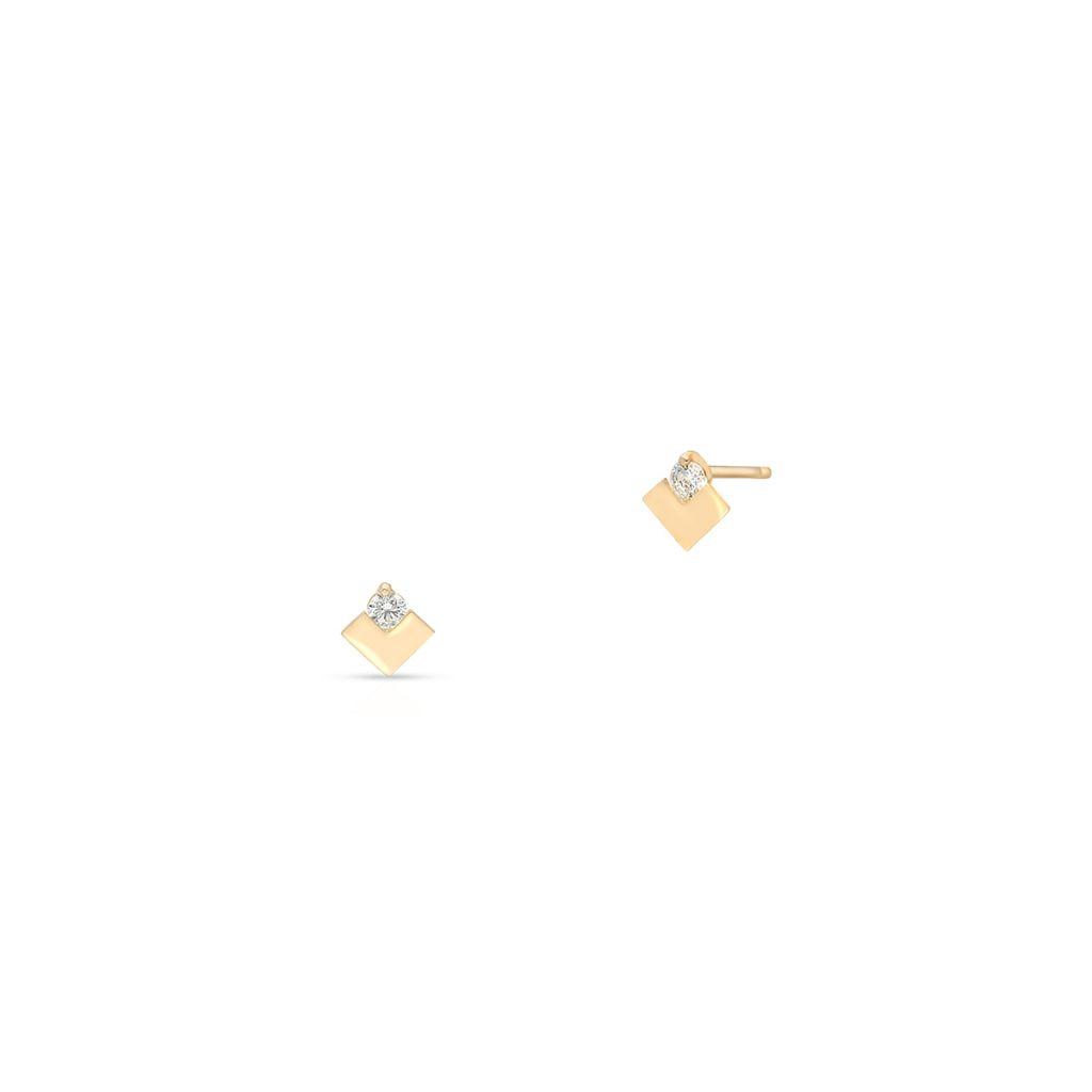 W.KRUK Kolczyki Złote – złoto 375, Cyrkonia – ZIO/KC04
