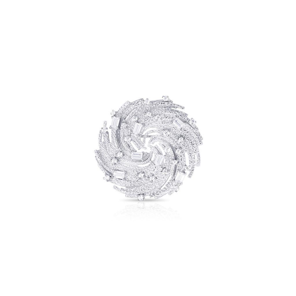 W.KRUK Wspaniały Srebrny Pierścionek – srebro 925, Cyrkonia – SDL/PC158