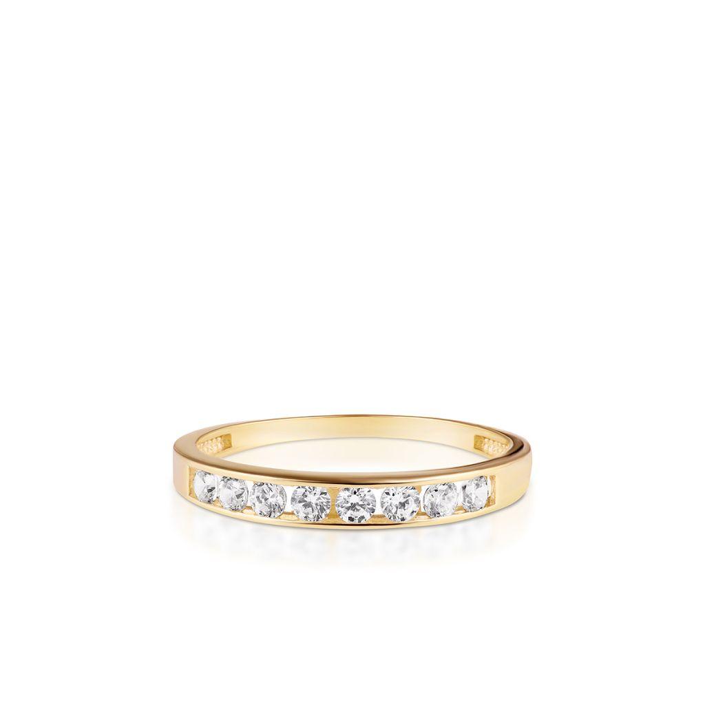 W.KRUK Piękny Pierścionek Złoty – złoto 333, Cyrkonia – ZNN/PC04