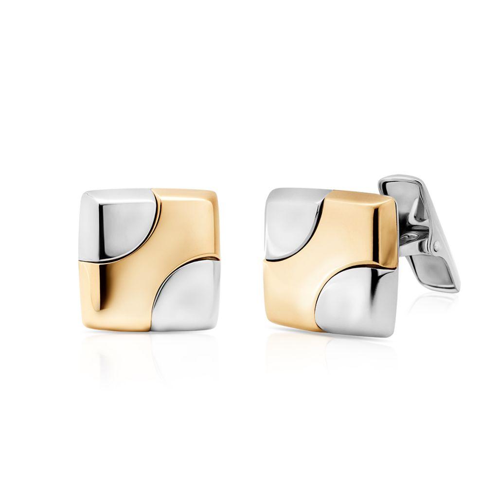 W.KRUK Złote Spinki do koszuli – złoto 585 – ZDD/MZ02BK