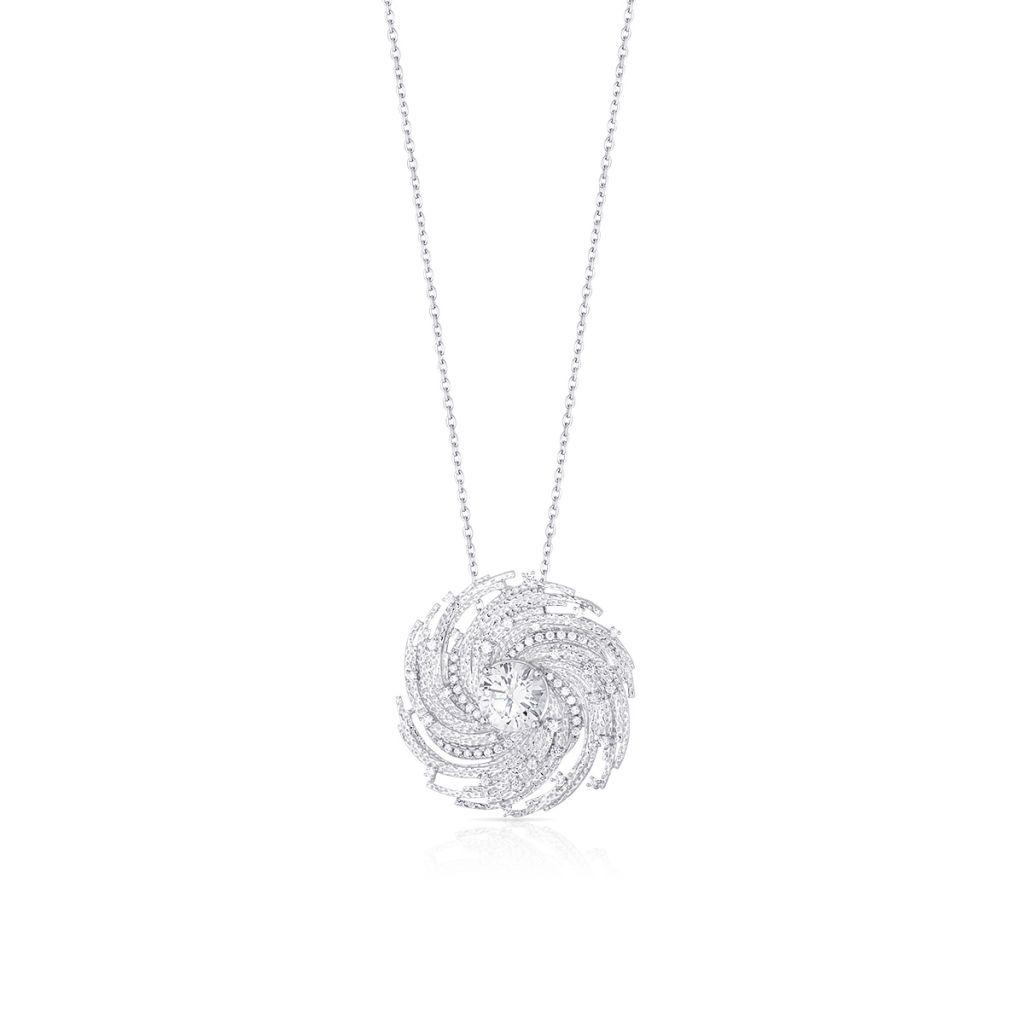W.KRUK Wisiorek Srebrny – srebro 925, Cyrkonia – SDL/WC154
