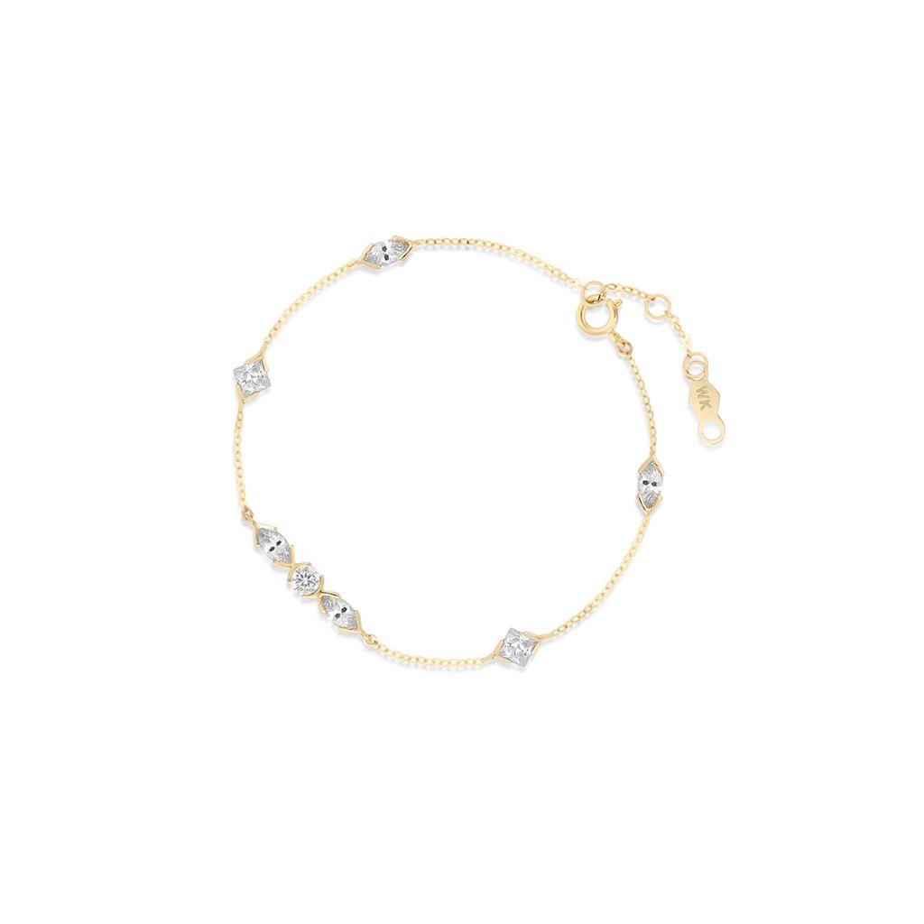 W.KRUK Wyjątkowa Bransoletka Złota – złoto 375, Cyrkonia – ZOL/AC20