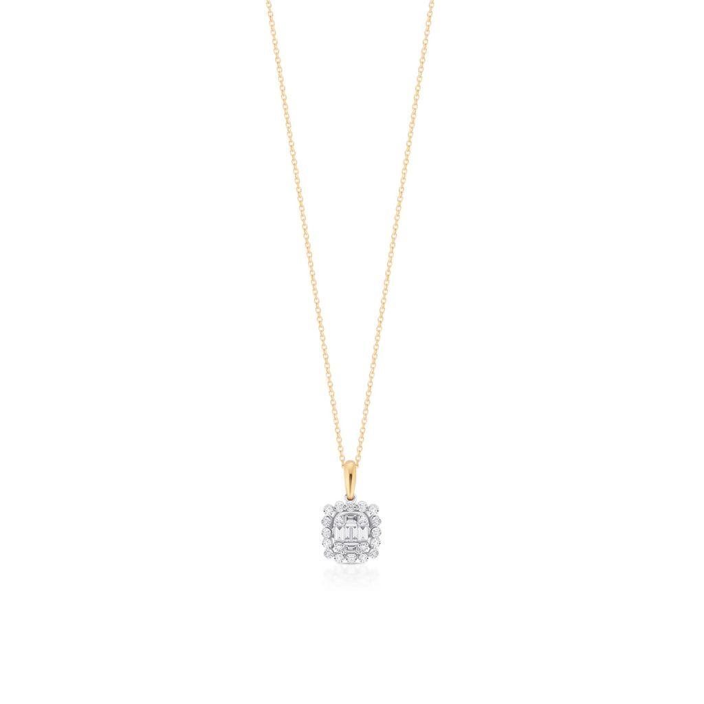 W.KRUK Wspaniały Wisiorek Złoty – złoto 585, Brylant 0,03ct,diament 0,16ct – ZPA/WB+460K