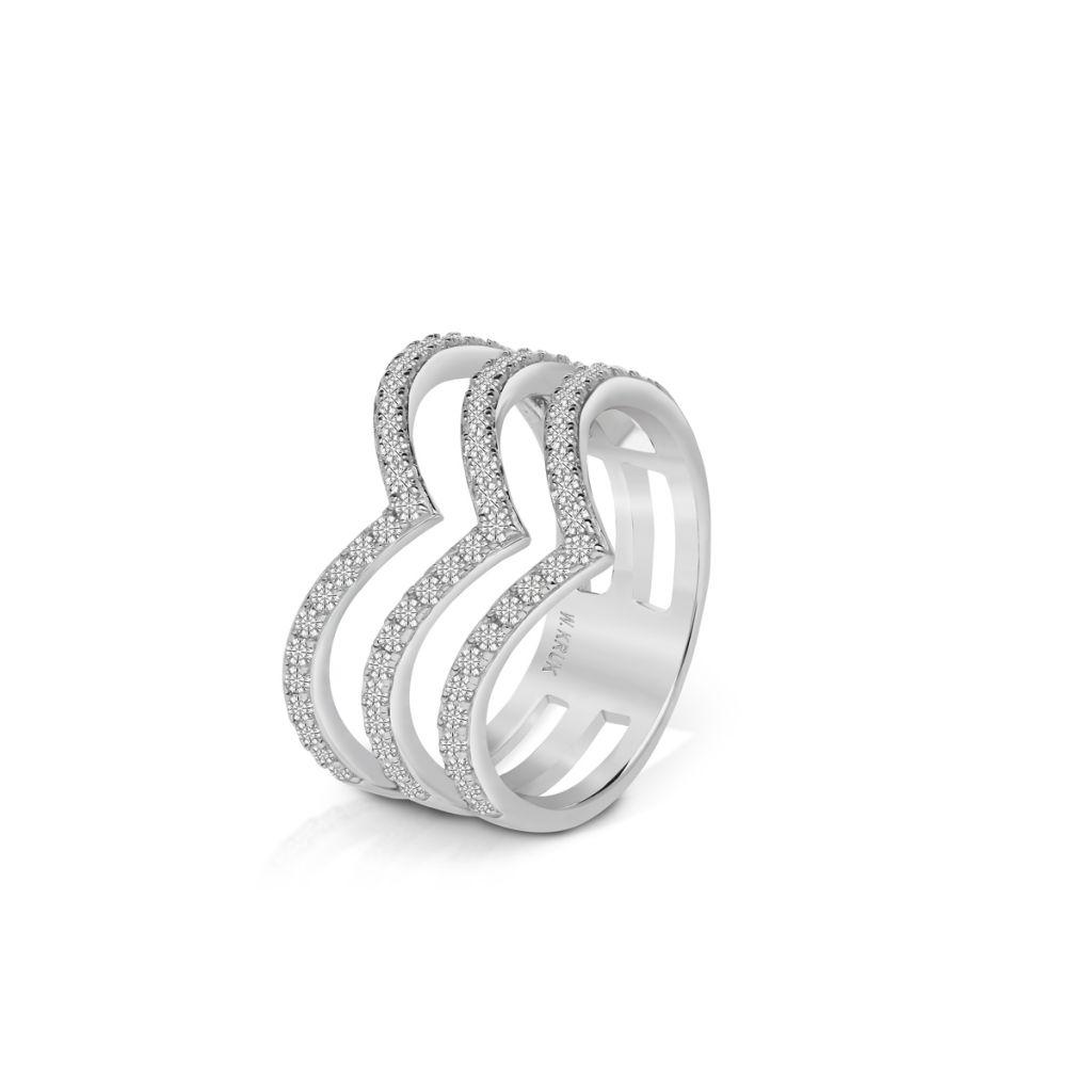 W.KRUK Srebrny Pierścionek – srebro 925, Cyrkonia – SDL/PC076