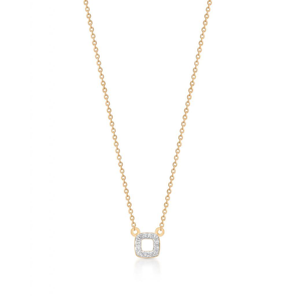 Unikalny Naszyjnik - złoto 375, Diament 0,03ct