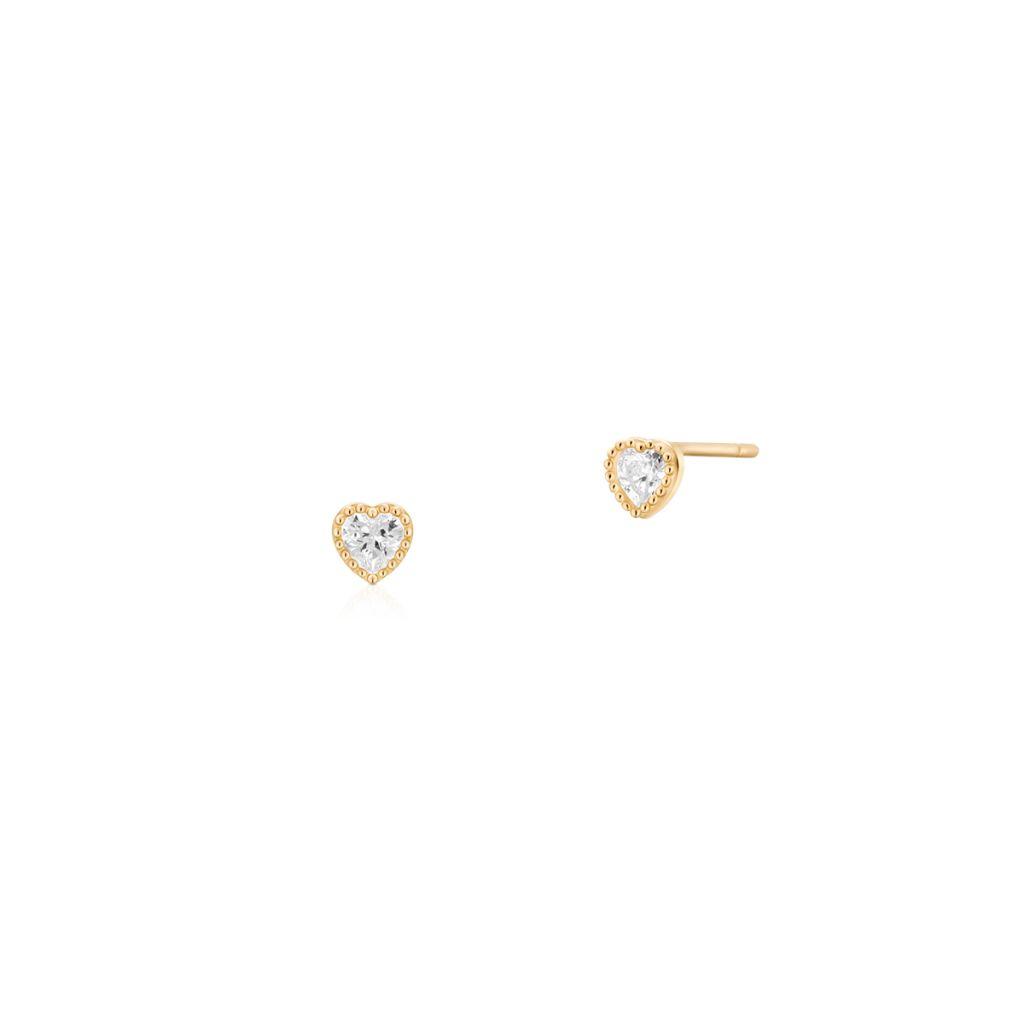 W.KRUK Unikalne Złote Kolczyki – złoto 375, Cyrkonia – ZOL/KC04