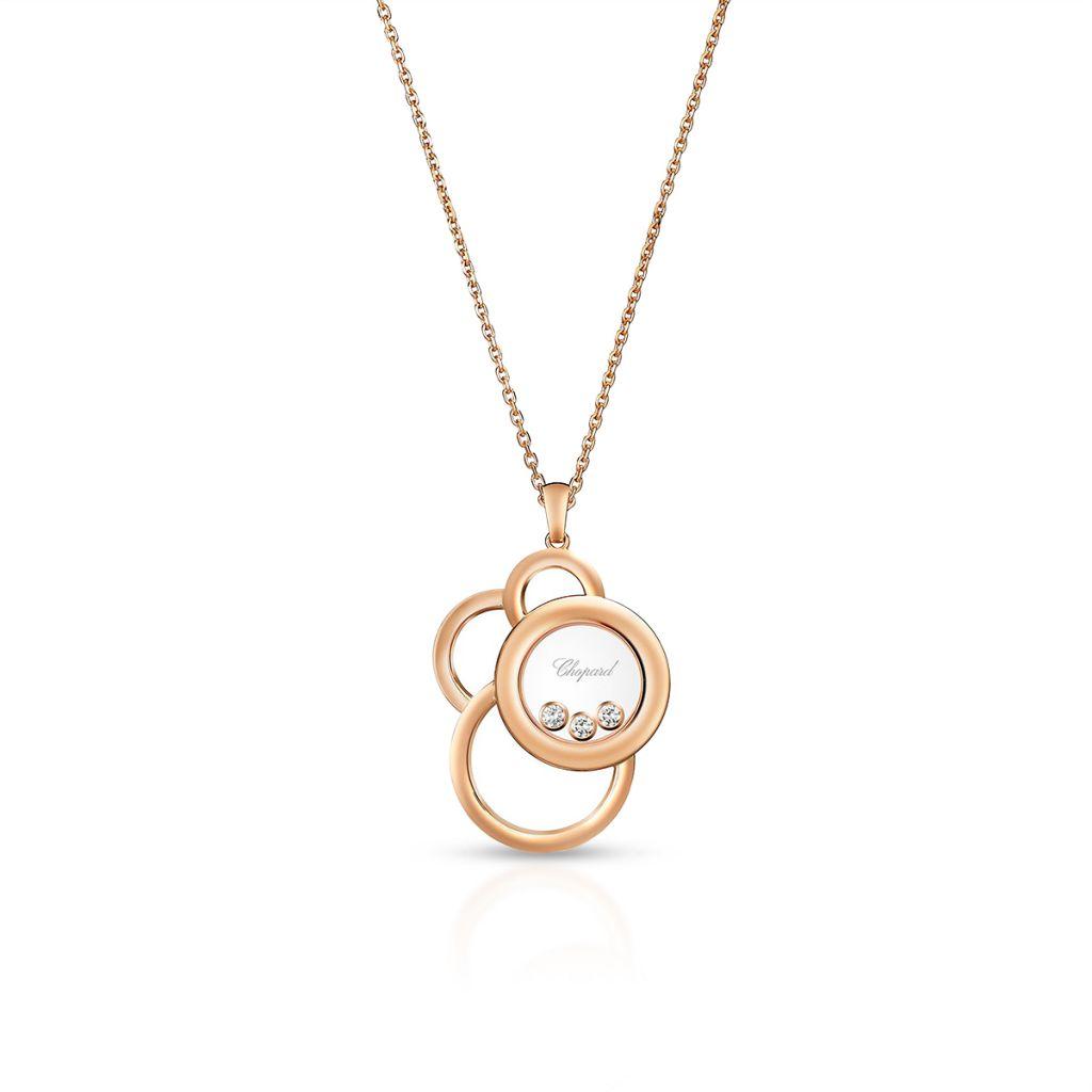 W.KRUK Naszyjnik różowe złoto Happy Diamonds Chopard – ZPD/NB+32R0000