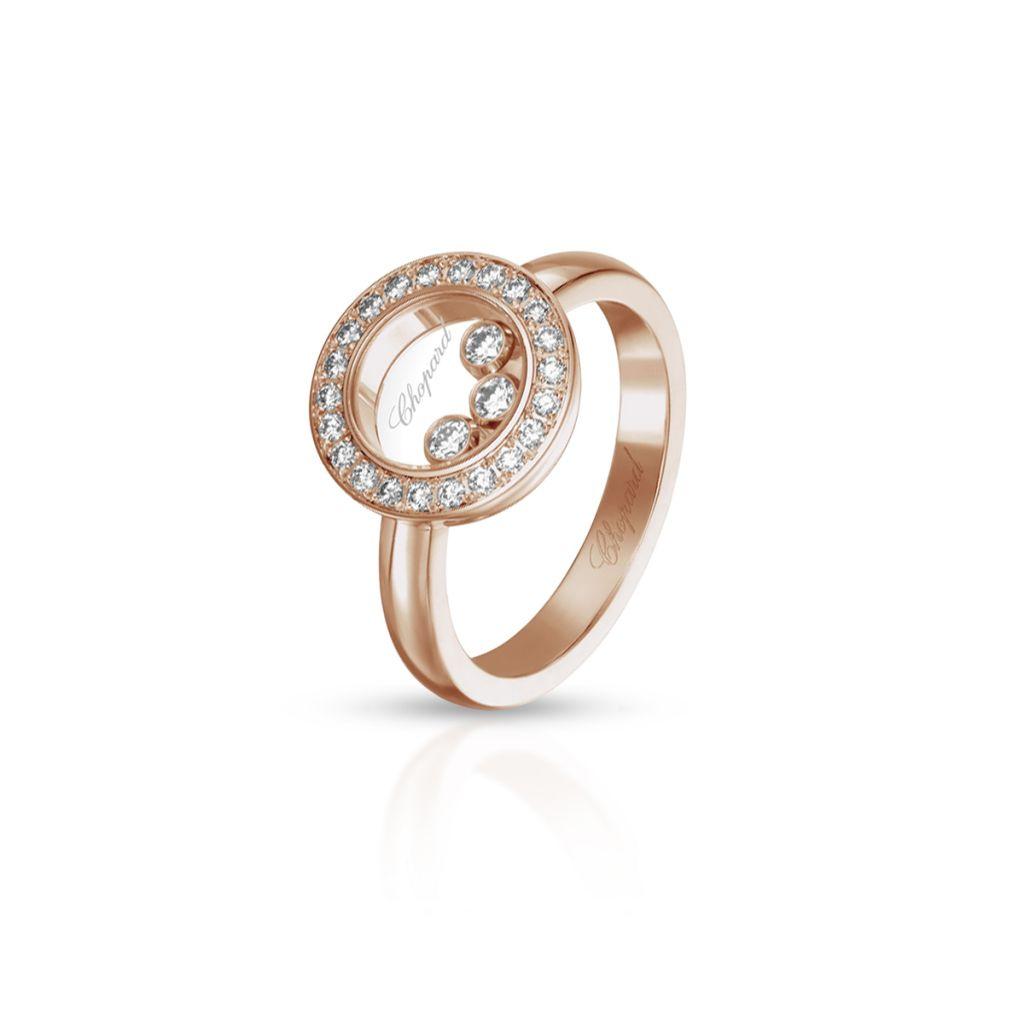 W.KRUK Pierścionek różowe złoto HAPPY DIAMONDS Chopard – ZPD/PB+04R /18U018