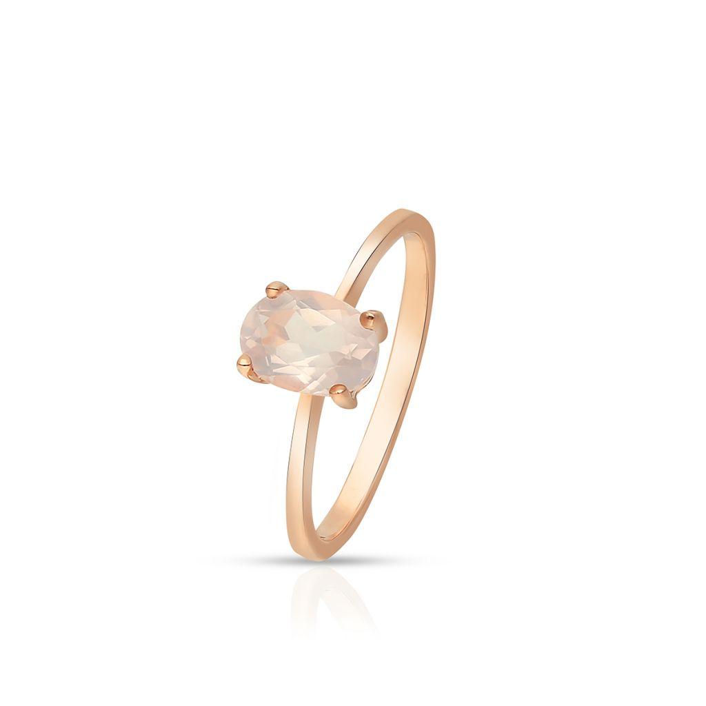 W.KRUK Wyjątkowy Złoty Pierścionek – złoto 375, Kwarc różowy – ZHH/PW24R