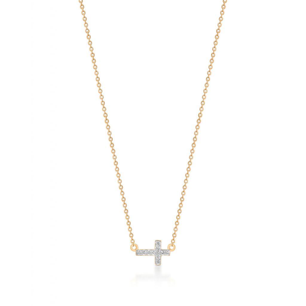 W.KRUK Wyjątkowy Naszyjnik – złoto 375, Diament 0,03ct – ZDL/NB+05BK