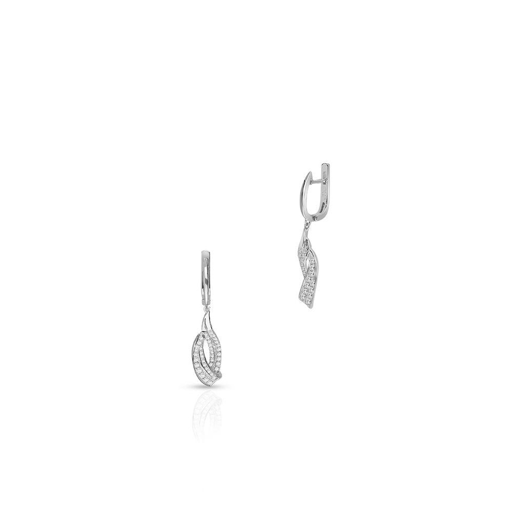 W.KRUK Wyjątkowe Kolczyki Srebrne – srebro 925, Cyrkonia – SDL/KC183