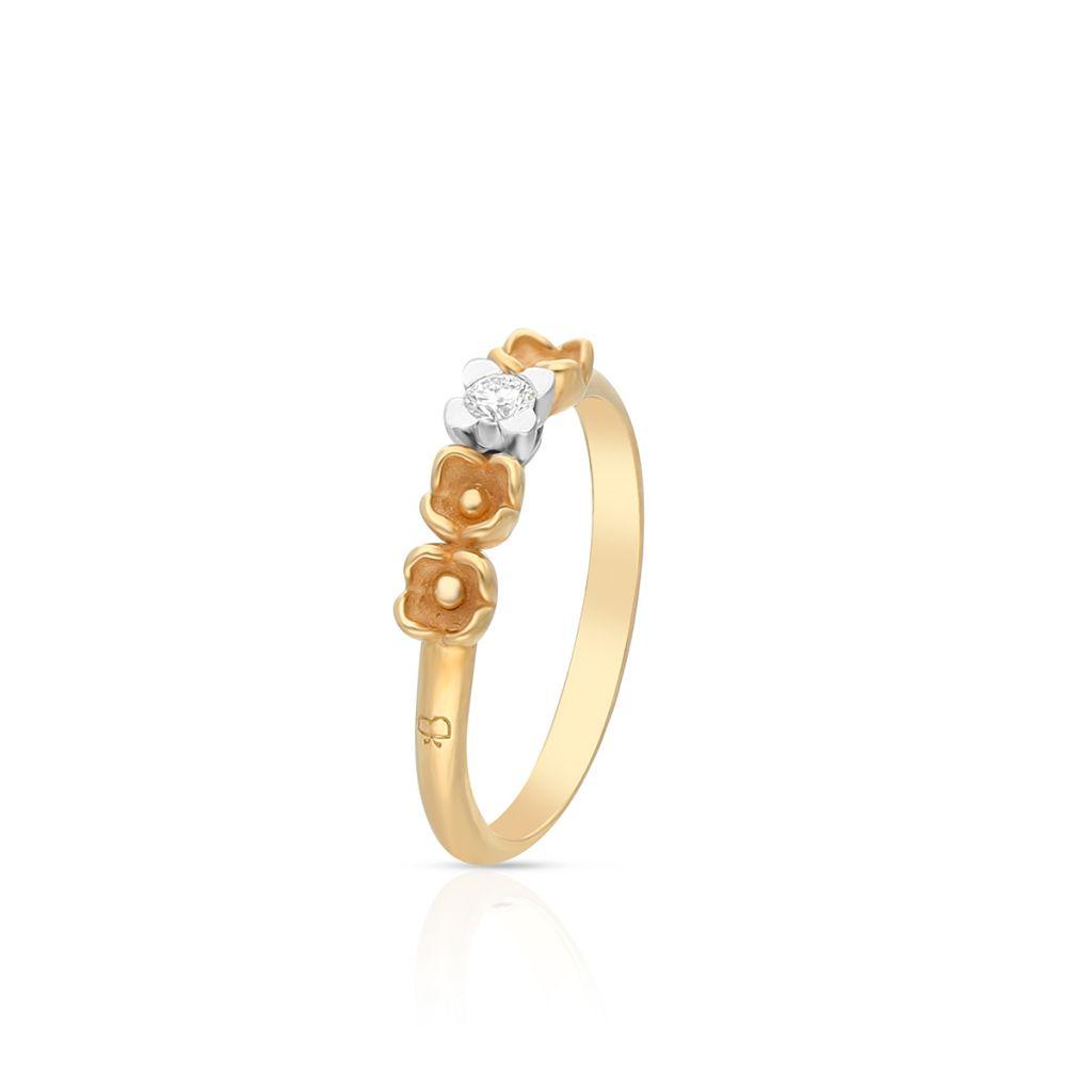 W.KRUK PROMOCJA Pierścionek złoty bicolor ANNA MARIA CAMMILLI – ZMM/PB+97BK