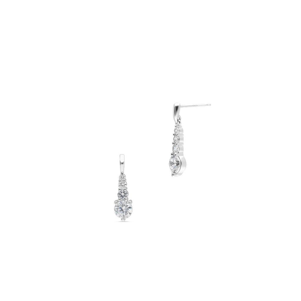 W.KRUK Piękne Kolczyki Srebrne – srebro 925, Cyrkonia – SCH/KC280