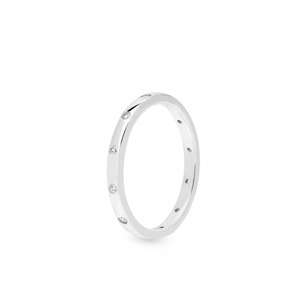 W.KRUK Piękny Pierścionek Srebrny – srebro 925, Cyrkonia – SLB/PC098