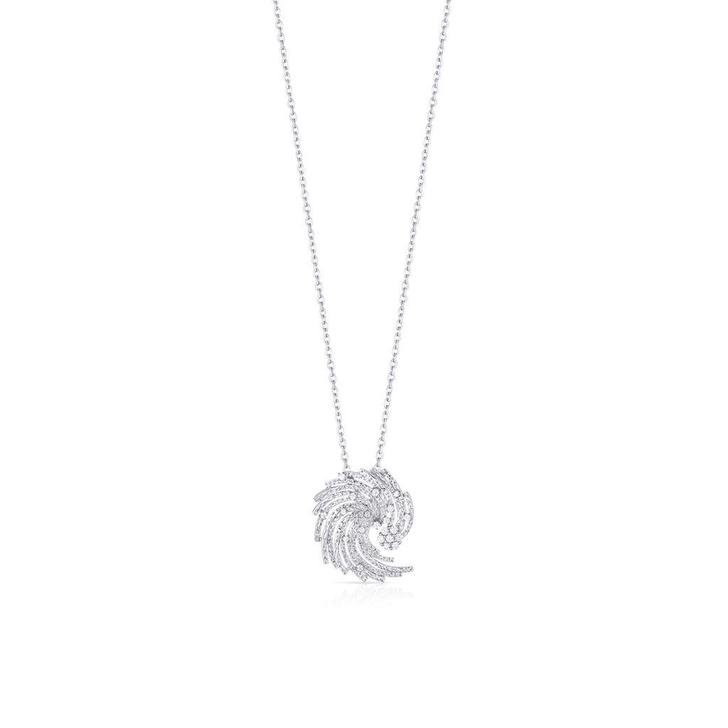 W.KRUK Wyjątkowy Srebrny Wisiorek – srebro 925, Cyrkonia – SDL/WC153