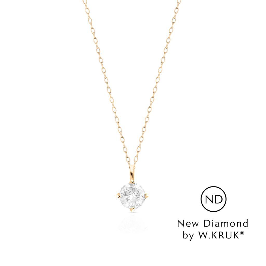 W.KRUK Złoty Wisiorek – złoto 585, New diamond by w.kruk 0,20ct – XWK/WB-01