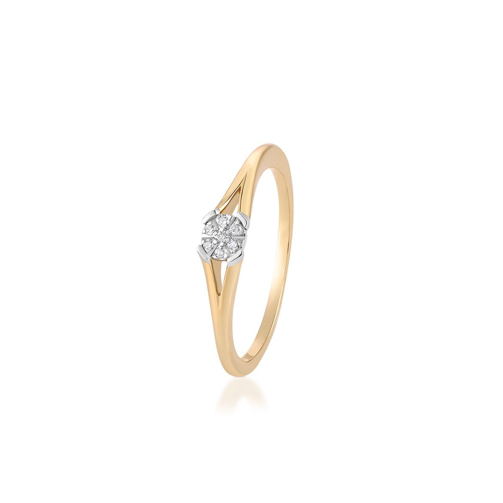 W.KRUK Wyjątkowy Pierścionek Złoty – złoto 375, Brylant 0,039ct – ZPA/PB+313