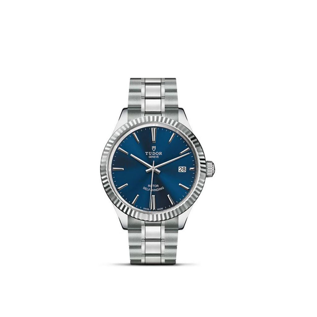 TUDOR STYLE DATE 38MM 12510 65050 BLUE INDEX W