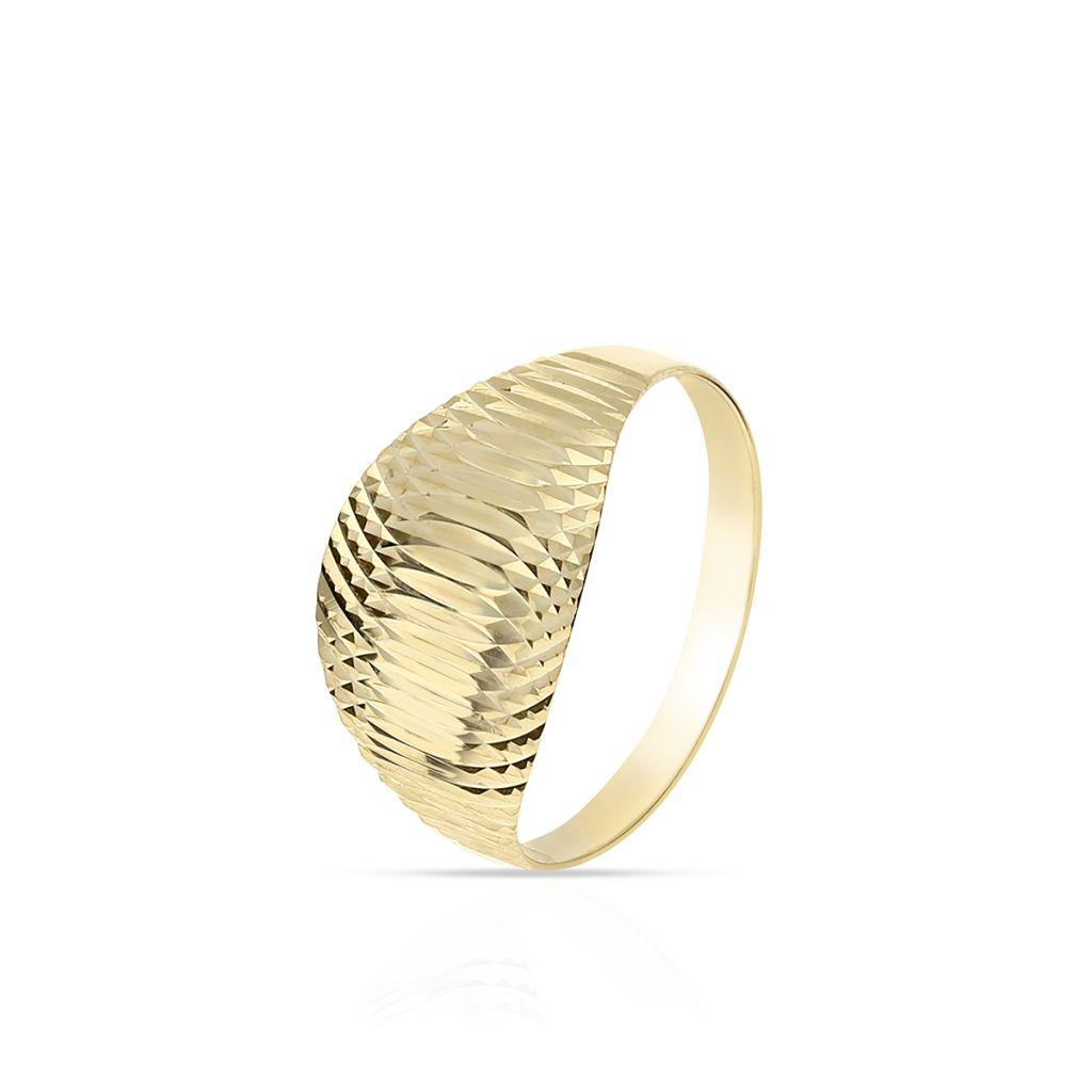 W.KRUK Unikalny Złoty Pierścionek – złoto 585 – ZAZ/PZ469