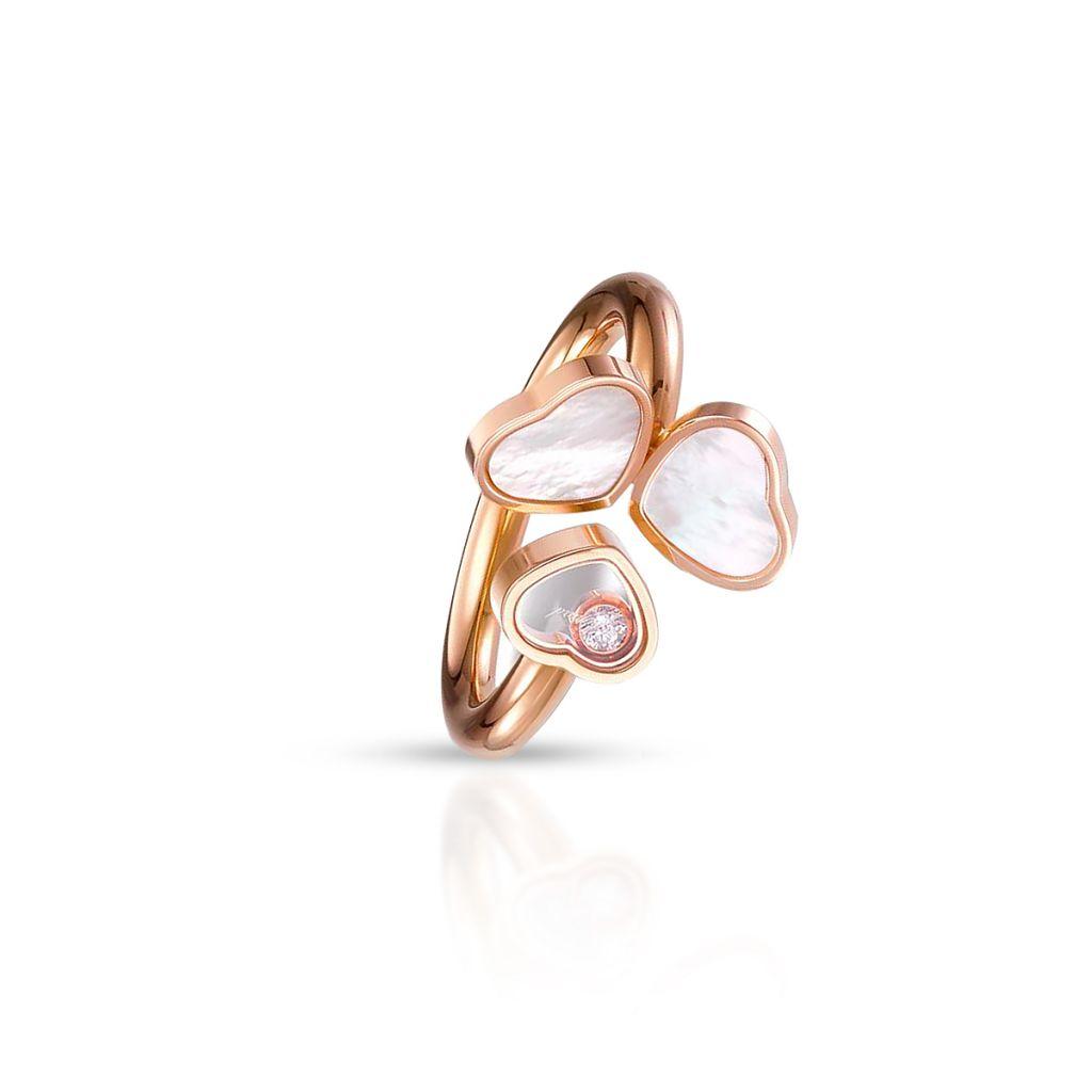 W.KRUK Pierścionek różowe złoto HAPPY HEARTS Chopard – ZPD/PB+53R /12U012