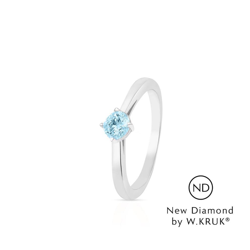W.KRUK Złoty Pierścionek – złoto 585, New diamond by w.kruk 0,30ct – XWK/PB-10B
