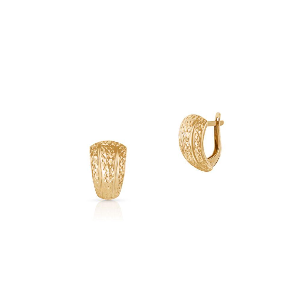 W.KRUK Unikalne Kolczyki Złote – złoto 585 – ZAZ/KZ458