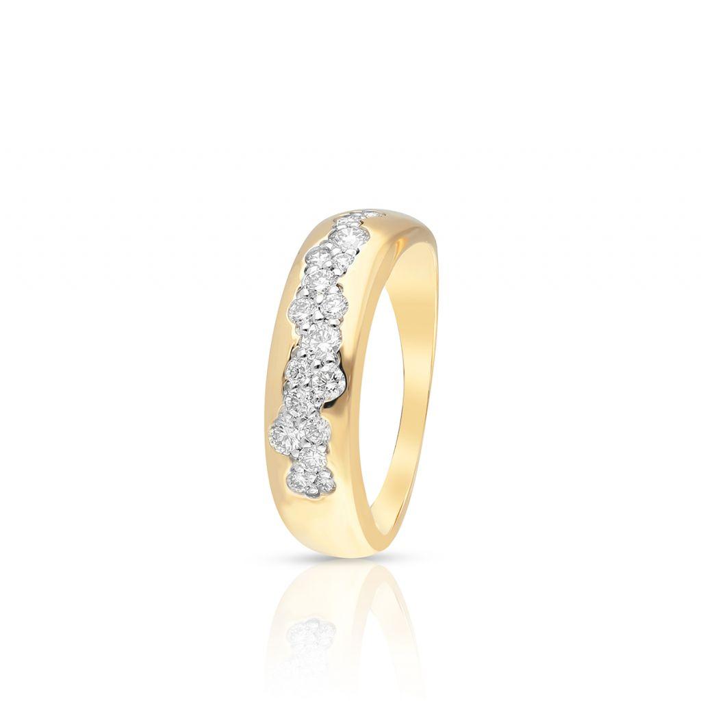 W.KRUK Pierścionek Złoty – złoto 585, Brylant 0,44ct – ZDL/PB+35BK