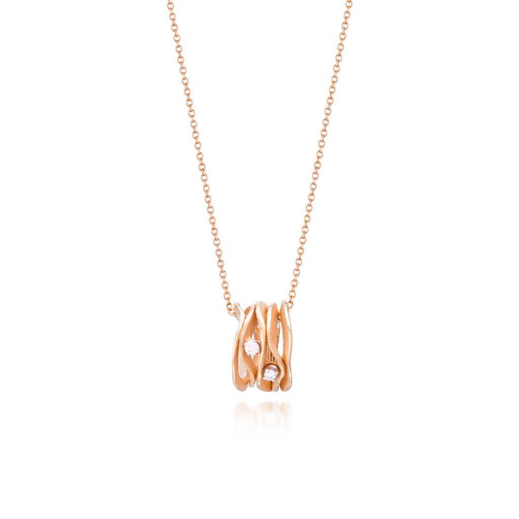 Wyjątkowy Naszyjnik - złoto 750, Brylant 0,05ct