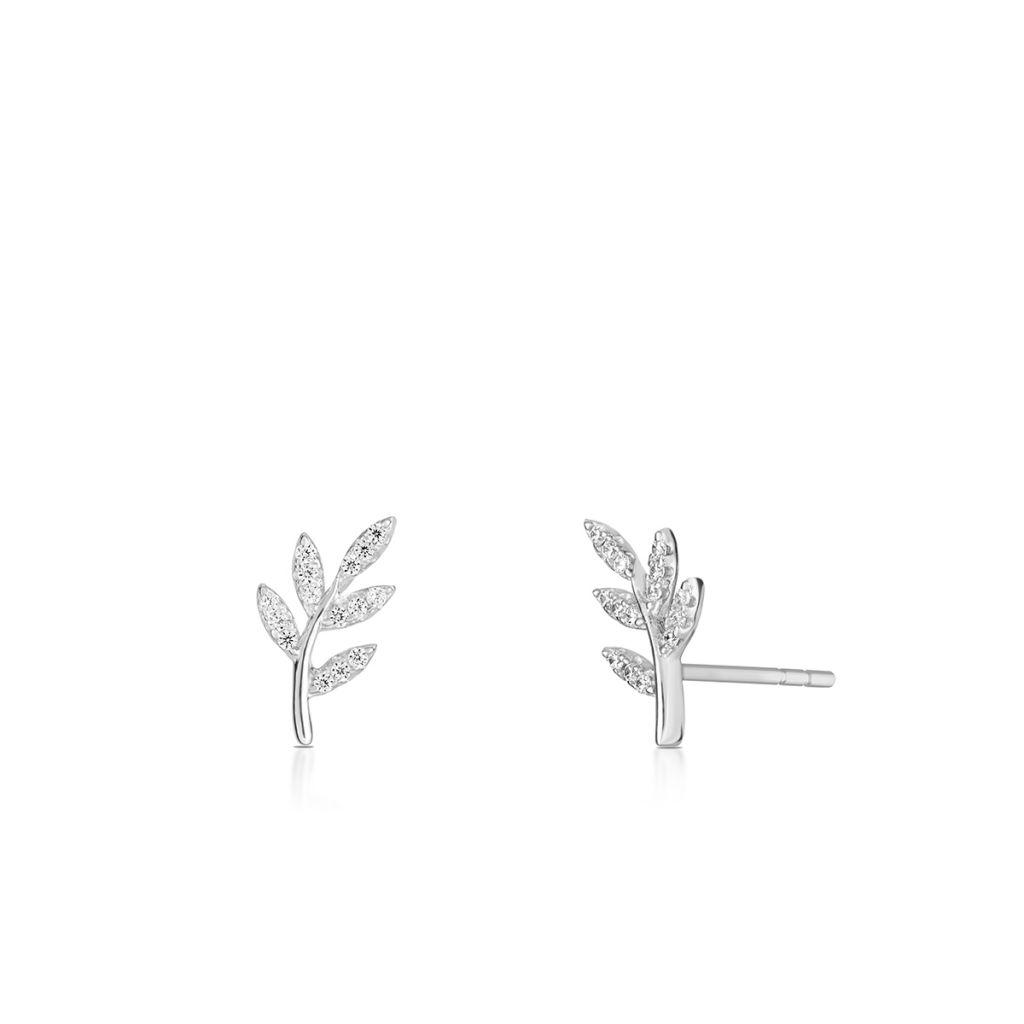 W.KRUK Kolczyki Srebrne – srebro 925, Cyrkonia – SLB/KC067