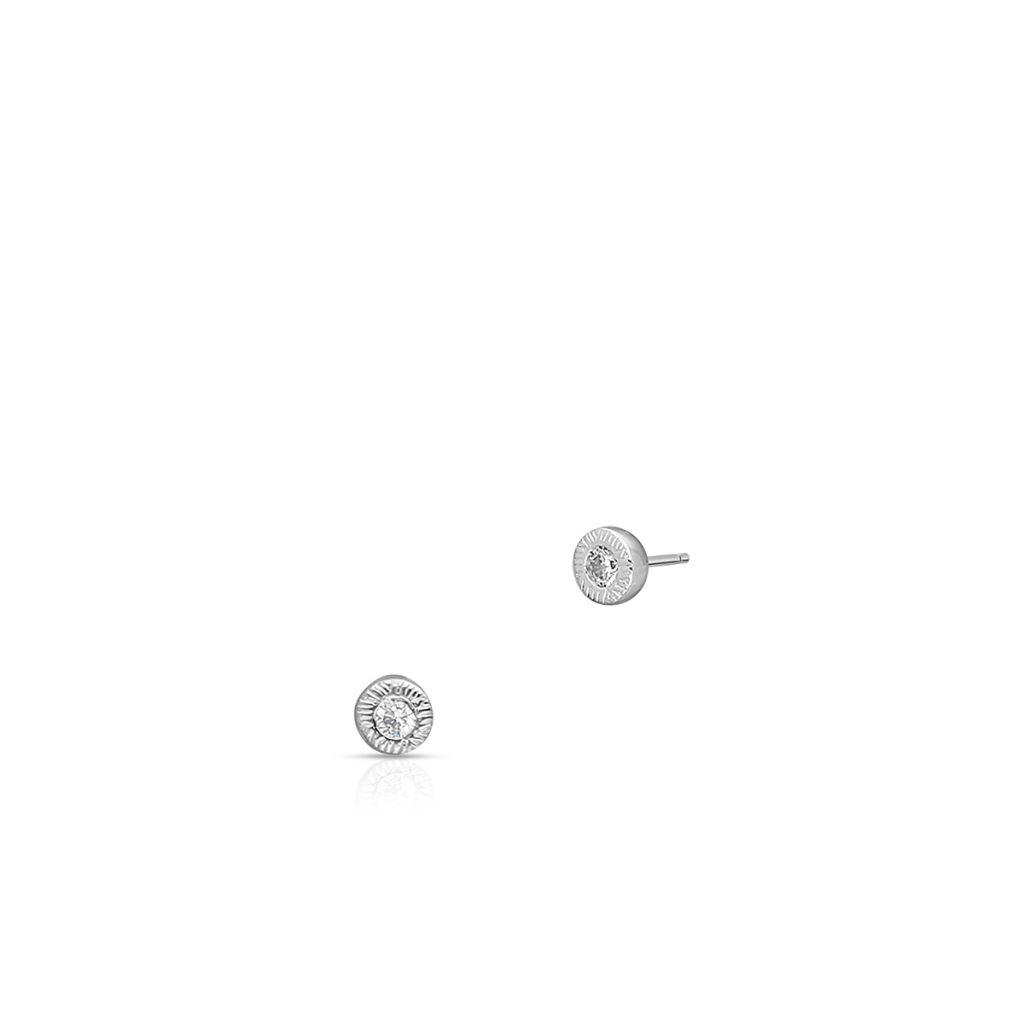 W.KRUK Unikalne Srebrne Kolczyki – srebro 925, Cyrkonia – SCH/KC283