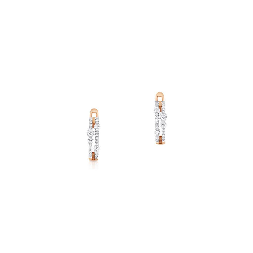 W.KRUK Piękne Złote Kolczyki – złoto 585, Brylant 0,23ct – ZCG/KB+903K