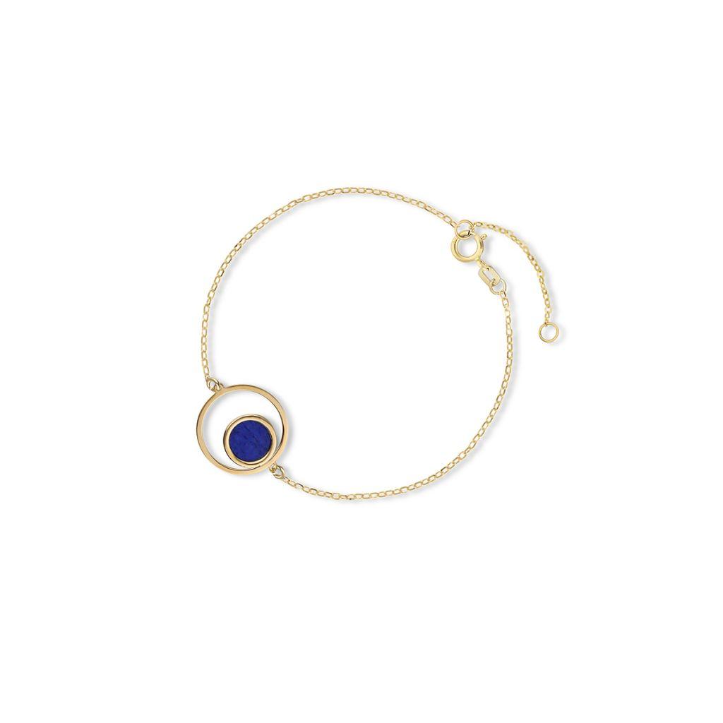 W.KRUK Wyjątkowa Bransoletka Złota – złoto 375, Lapis lazuli – ZTO/AW24