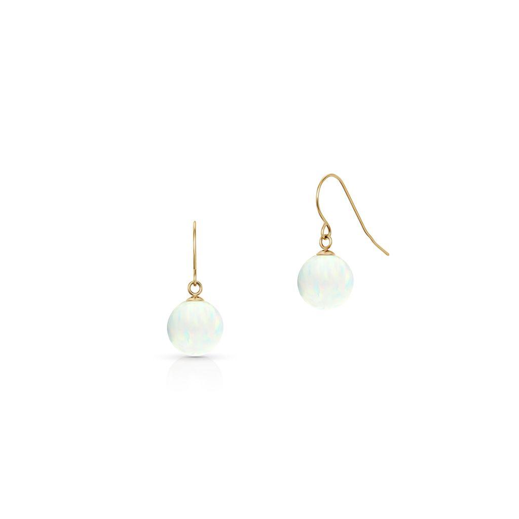 W.KRUK Kolczyki Złote – złoto 375, Opal syntetyczny – ZIO/KW02