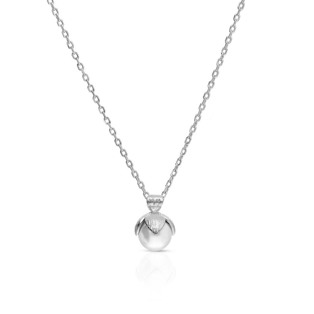 W.KRUK Zjawiskowy Srebrny Wisiorek – srebro 925, Perła – SHX/WP005