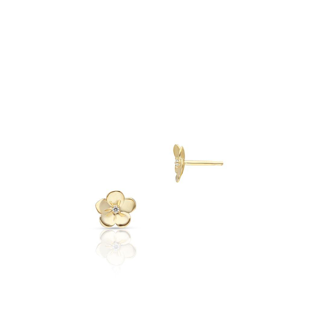 W.KRUK Kolczyki Złote – złoto 375, Cyrkonia – ZTO/KC84