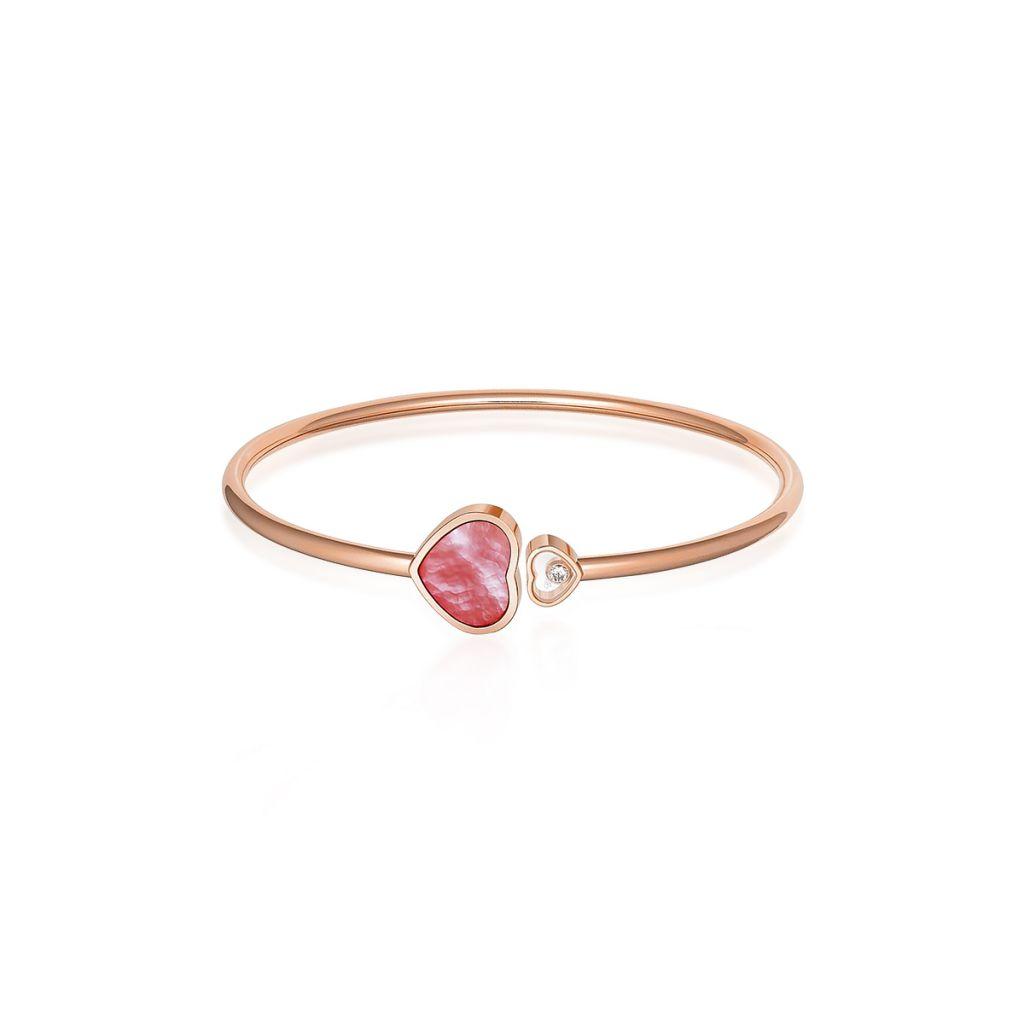 W.KRUK Bransoleta różowe złoto HAPPY HEARTS Chopard – ZPD/AB+68R0000