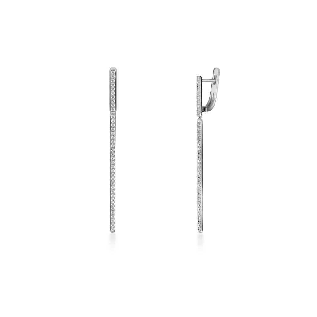 W.KRUK Unikalne Srebrne Kolczyki – srebro 925, Cyrkonia – SDL/KC043