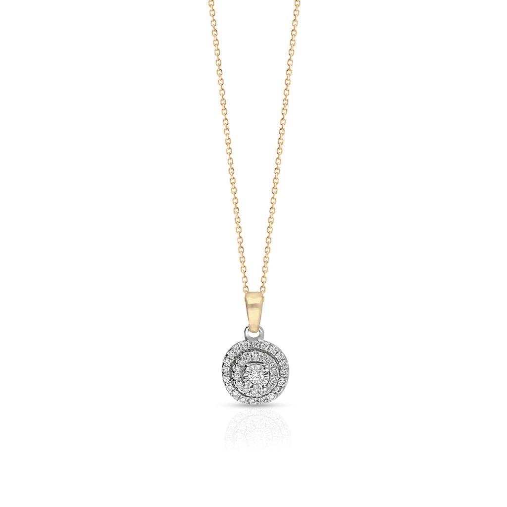W.KRUK Zjawiskowy Złoty Wisiorek – złoto 585, Diament 0,04ct,brylant 0,12ct – ZPJ/WB+23BK
