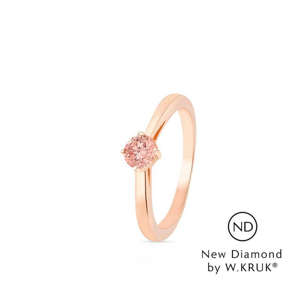 W.KRUK Unikalny Złoty Pierścionek – złoto 585, New diamond by w.kruk 0,20ct – XWK/PB-06R