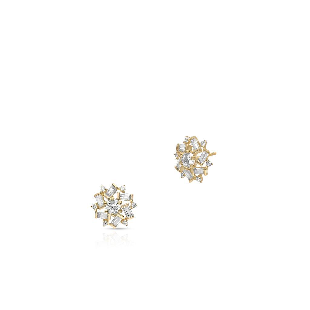 W.KRUK Wspaniałe Złote Kolczyki – złoto 375, Cyrkonia – ZIH/KC92