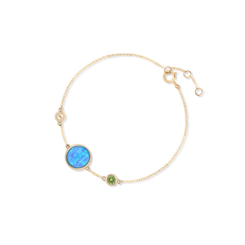 W.KRUK Zjawiskowa Bransoletka Złota – złoto 375, Spinel syntetyczny,opal syntetyczny – ZDL/…