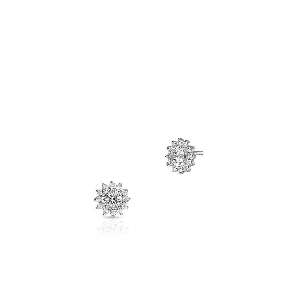 W.KRUK Piękne Srebrne Kolczyki – srebro 925, Cyrkonia – SDL/KC190